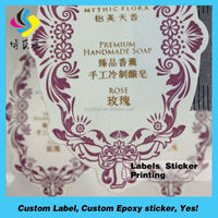 100% Direct custom adhesive logo craft paper label, full color printing craft paper sticker China manufacturer