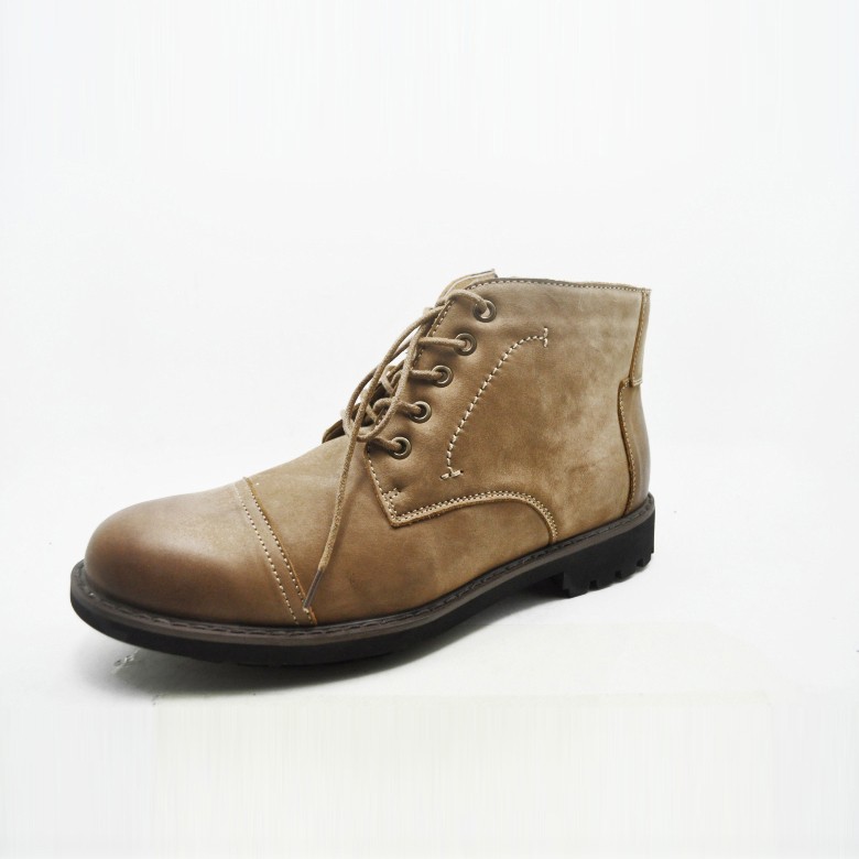 high quality made in china cheap men genuine leather military boots