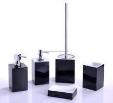 Hot selling good price black resin bath accessories,resin bath set