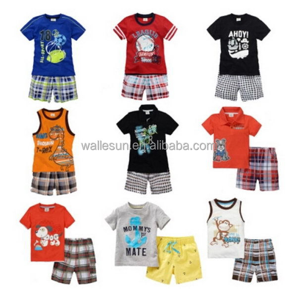 Hot selling summer smocked children clothing wholesale kid garment kid wear