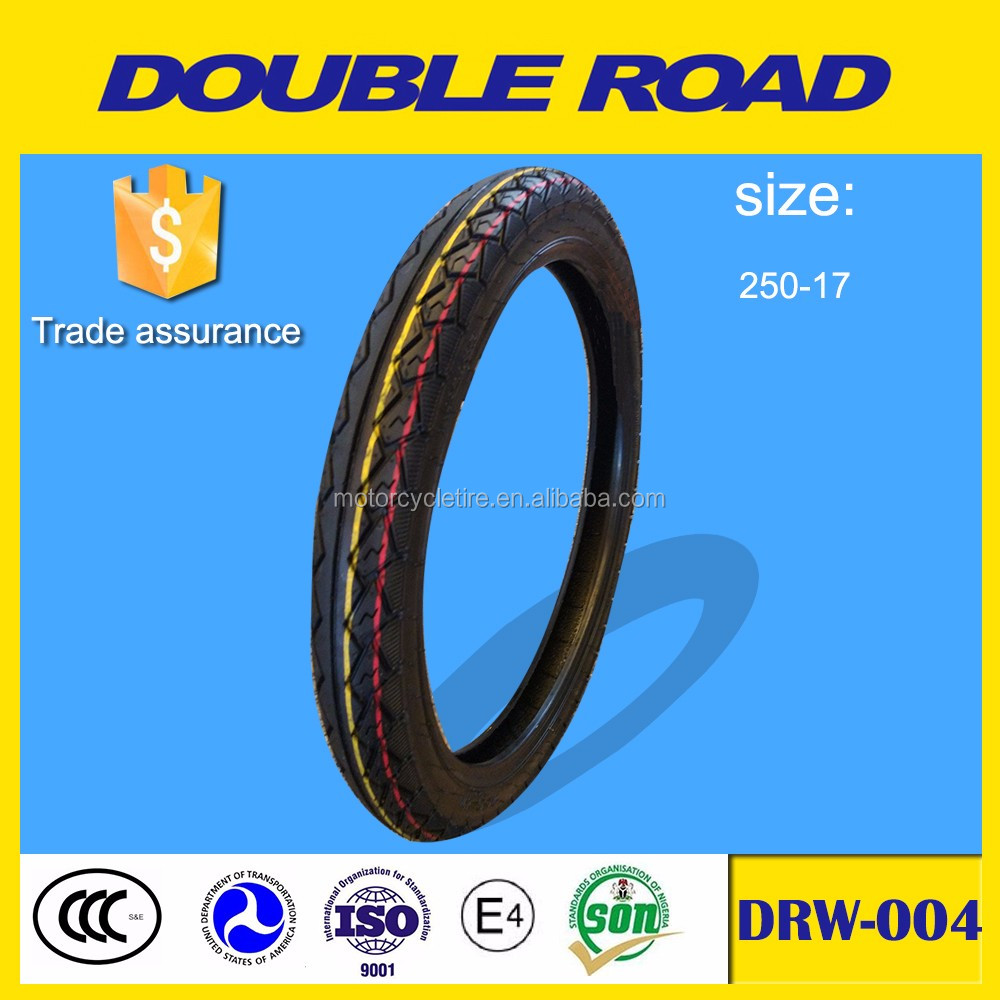 Qingdao 2.50x17 size natural rubber motorcycle tires wholesale