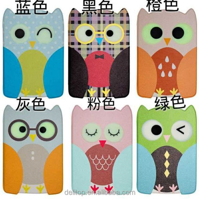 Cute Night Owl Printed Anti-slip Ultra Slim Stand Painting Case Cover For Apple iPad Air / iPad 6/ iPad mini 1 2 3