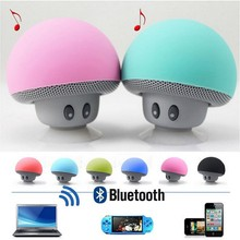 Mushroom Portable Mini Speaker Bluetooth Speaker, Wireless Bluetooth Speaker with Suction Cup Built-in Mic