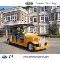 8 seaters Electric City Tourist Sightseeing Quad Car