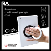 for ipad air 2 metal ring back case plastic pad case with luxury metal circle pad case with easy watching