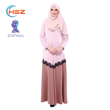 Zakiyyah YX03 Traditional Muslim Clothing Plus Size Women Maxi Dress Baju Kurung