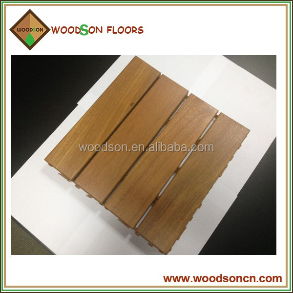 300*300 mm Commercial Natural Solid Balau Outdoor Decking
