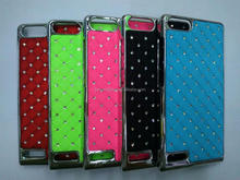 Crystal Stars Diamond Bling PU Leather Case For Huawei G6 Case Cover