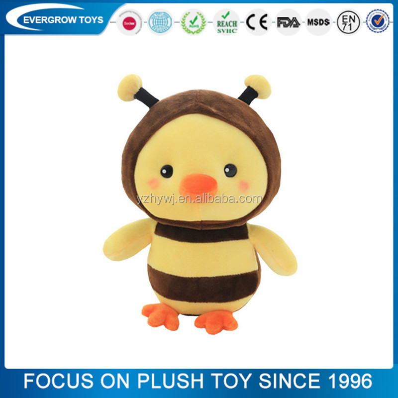 2016 hot small bee costume plush toy chicken
