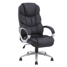 Wholesale China Black Erognomic PU Leather Desk Executive Chair CEO Big And Tall Office Chair