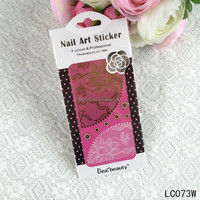 ON SALE Tiebeauty Nail sticker, lace nail design, wedding and bride and princess nail art sticker