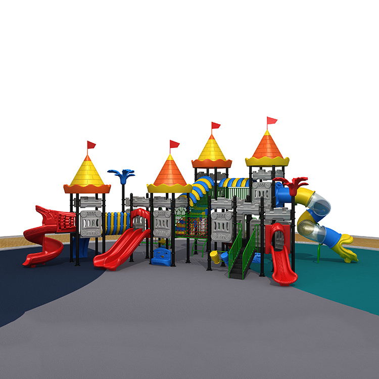 Castle Series commercial outdoor playground equipment, kid plastic playground sets