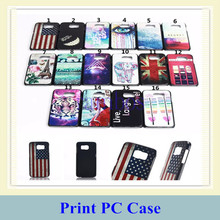 Eiffel Tower US Flag Design Mobile Phone Back Case Printed Plastic Cover for Samsung Galaxy S6 S6 Edge