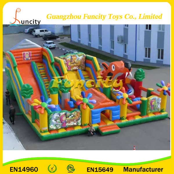 Fun City Factory Costoms GIANT Inflatable Playground, Inflatable Bouncer, Bouncy Castle for Kiddo and Adults