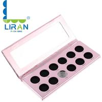 High Quality 10 Colors stock OEM Customize Private Label white empty eyeshadow palette