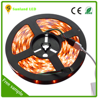 china supplier christmas decoration small battery operated epistar smd5050 multicolor waterproof led strip light 30leds/m