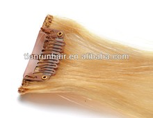 613 Blonde Color Hair Weave Clip In Human Hair Extension Dubai 16 18 20 Inch Peruvian Brazilian Indian Straight Human Hair Weave