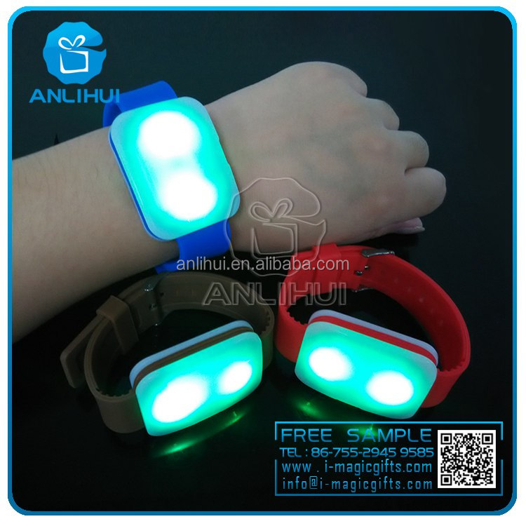 best selling item 2016 new products party supplies silicone led radio controlled wristband