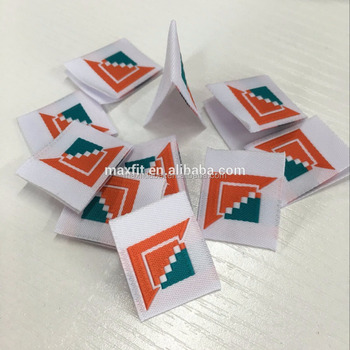2017 high quality woven labels with custom design