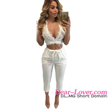 Hot Sexy White Lace Bralette Open Back Crop Top Gothic Clothing Women