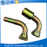 JIC/NPT 90 degree taper male thread hydraulic fitting with nipple