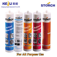 Silicone sealant for mirror, fast cure tile adhesive joint silicone