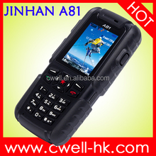 Dual SIM JINHAN A81 IP67 Wateproof Rugged Phone Support Outdoor Tools like Air Pressure, Altitude, Relative Height, E-Compass