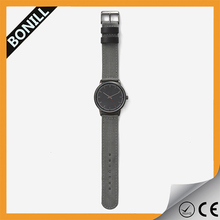 Accept small quantity custom logo luxury fabric strap watches small wrist men