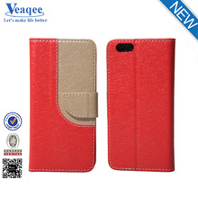 Veaqee new arrival cell phone paint flip pu leather case for iphone 6
