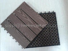 pre-screwed interlocking plastic base WPC Tile for any outdoor decking projects