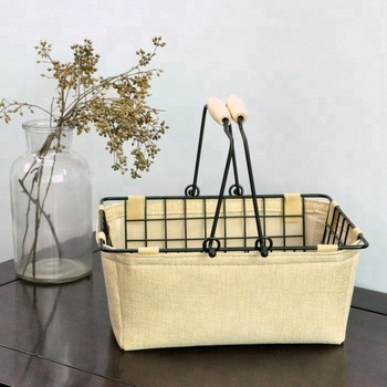 2018 metal cosmetic shopping baskets
