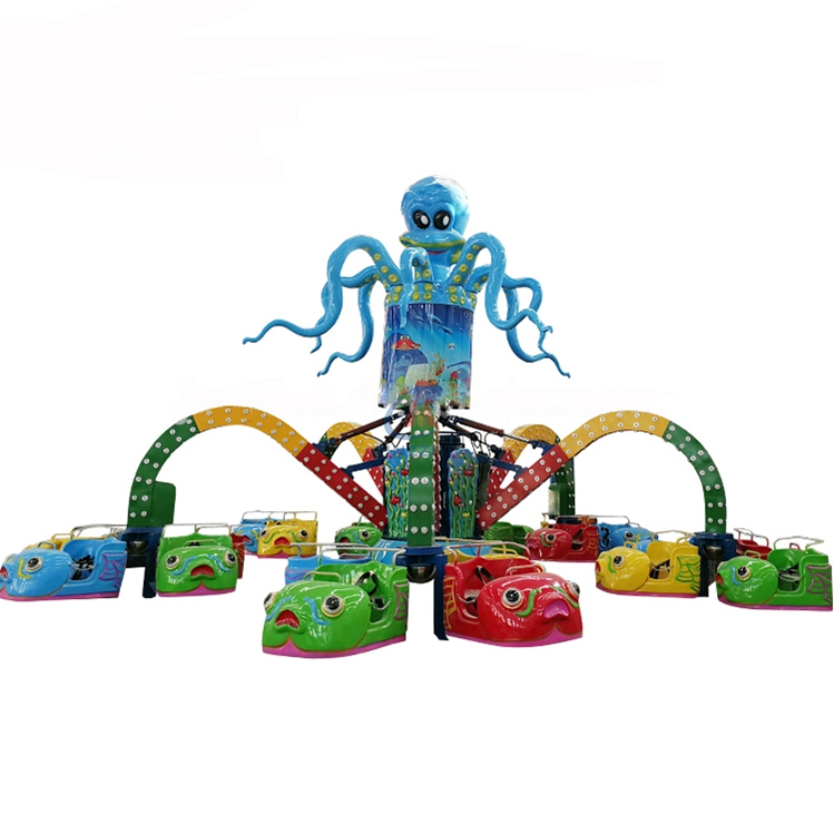 Modern design thrilling octopus ride funfair games rotary  family amusement octopus ride for sale
