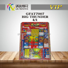 GFAT7007 BIG THUNDER ASSORTMENT ASSORTED FAMILY HIGH QUALITY CHEAP FIREWORKS FUEGOS ARTIFICIALES WHOLESALE UN0336 1.4G 1.3G MADE