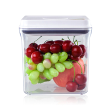 Hot Selling 1000ML Food Grade BPA Free Rectangle Plastic Containers / Clear air-tight food storage container