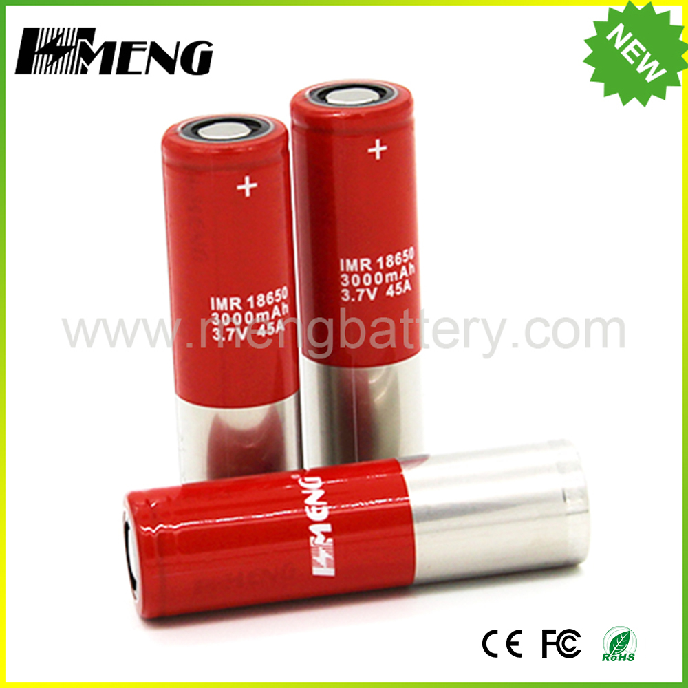 MSDS/KC certification 3.7v rechargeable imr 18650 3000mah li-ion battery