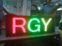 USB/RS232 scrolling message RGY tri-color led display sign P10mm