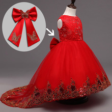 2016 New arrival fancy kids beautiful wedding dresses unique baby frock design