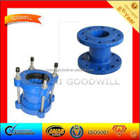 Flexible joint/connector fitting and flanged short tube with ductile iron