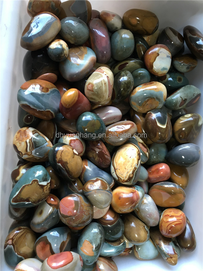 natural nice ocean jade/ jasper polished stones/raw crystal stone roughs for sale