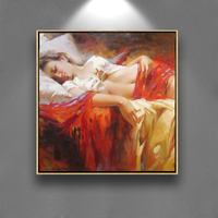 sexy girl canvas oil painting art nude sleeping girl image nude women paintings