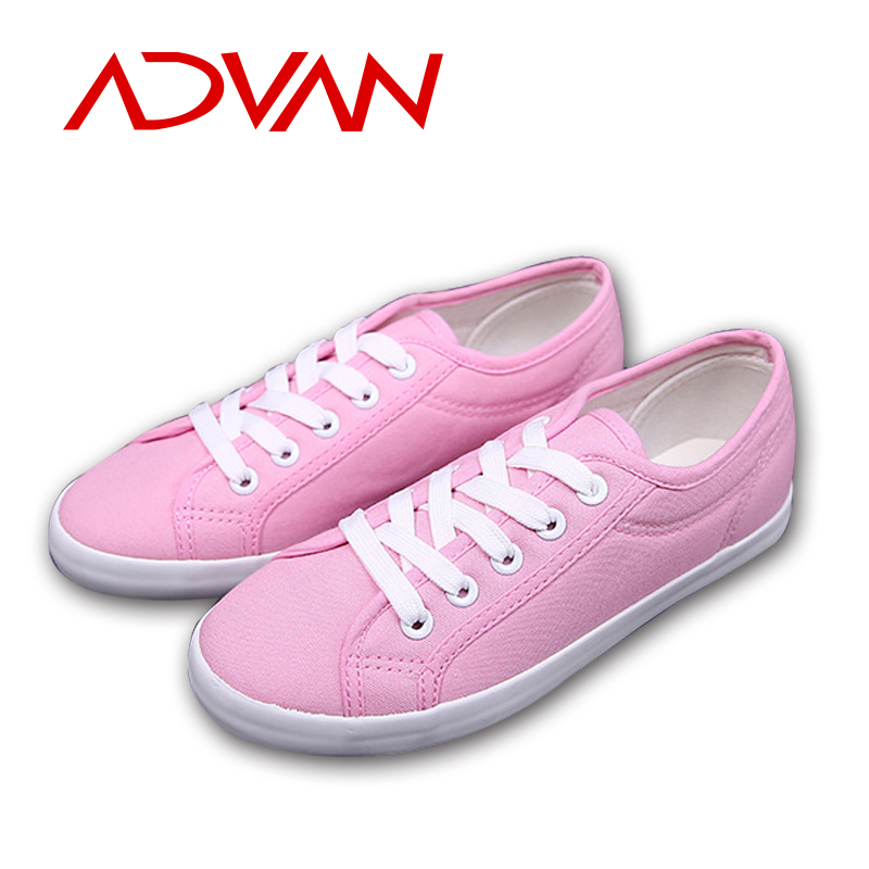 Wholesale low cut stock a lot accept customized Logo lace up pink canvas zapatos de mujer