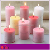 hot sale colorful pillar candle/paraffin wax for pillar candle