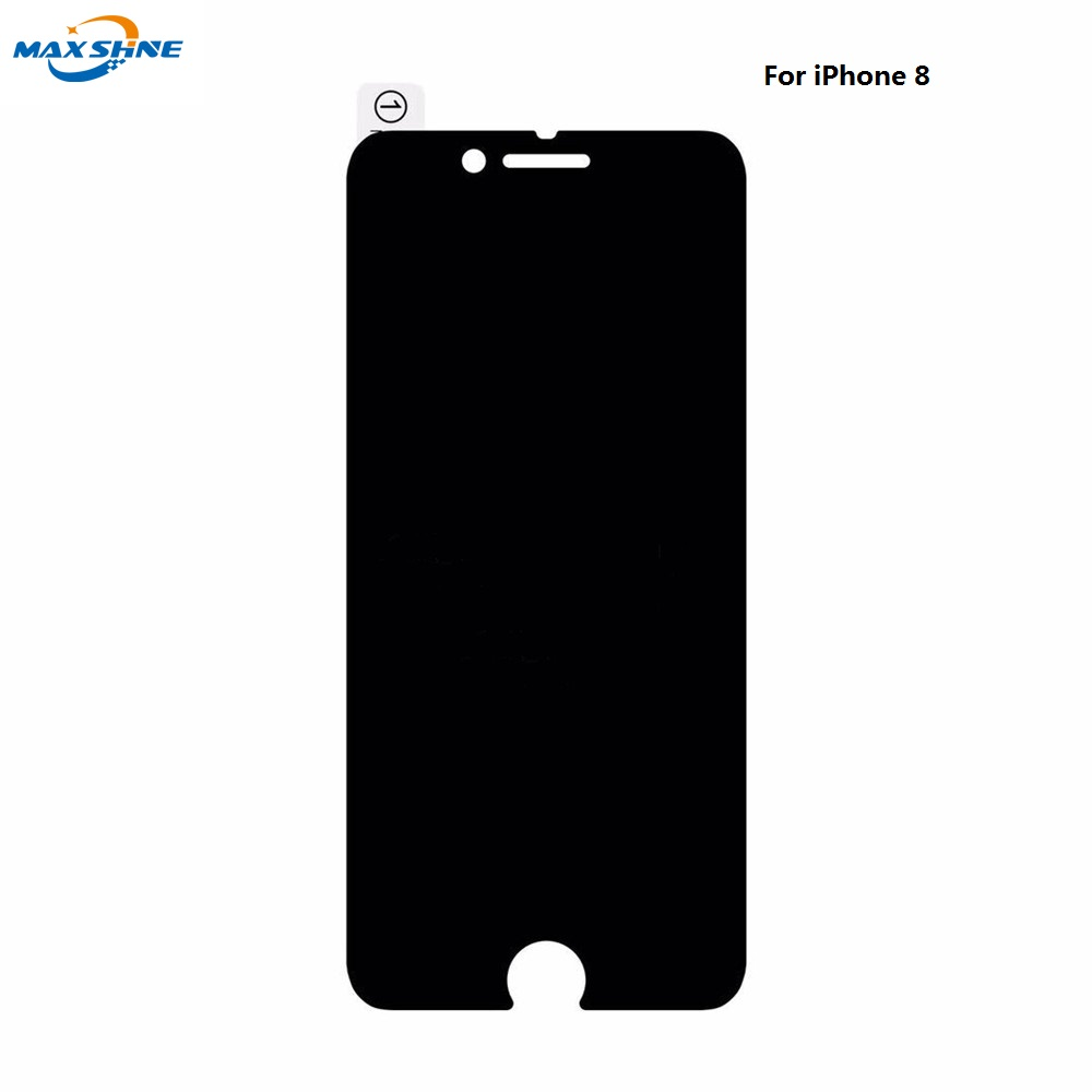 2.5D Anti Spy 9H Tempered Glass for iPhone 8 8 plus (Black), for iphone 8 privacy screen protector