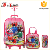 China manufactruer Kidstar wholesale cheap price colorful school trolley bag guangzhou
