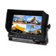7 inch 4 CH Sunshade Car Quad Monitor