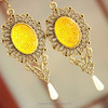 2015 new original vintage antique earrings personalized yellow, pink and perfect for LS019