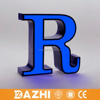 2016 wall mounted outdoor waterproof lighted alphabet metal letter sign in any font