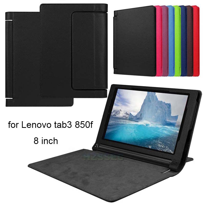 Luxury black PU leather tablet flip case cover for Lenovo Yoga Tab3 850F high qualtiy ultra slim 8 inch tablet case