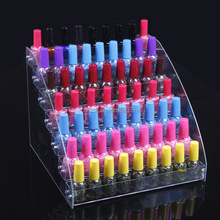Acrylic transparent nail Polish Display Shelf/Cosmetic Rack