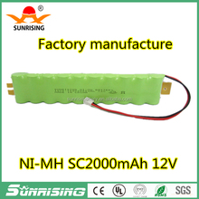 12v Ni-MH SC 2000mAh Rechargeable Battery for Robot Vacuum Cleaner